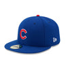 NEW ERA 59FIFTY FITTED CAP. AUTHENTIC MLB ON FIELD CAP. CHICAGO CUBS