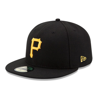 NEW ERA 59FIFTY FITTED CAP. AUTHENTIC MLB ON FIELD CAP. PITTSBURGH PIRATES