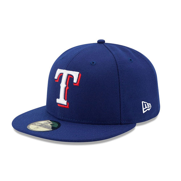 NEW ERA 59FIFTY FITTED CAP. AUTHENTIC MLB ON FIELD CAP. TEXAS RANGERS