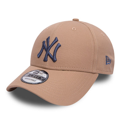 NEW ERA 9FORTY STRAPBACK CAP. ESSENTIAL NEW YORK YANKEES. CAMEL from peaknation.co.uk