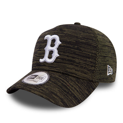 NEW ERA ADJUSTABLE A FRAME 9FORTY CAP. ENGINEERED FIT. BOSTON RED SOX