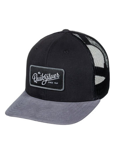 "QUIKSILVER ""BLOCKED OUT"" MENS CAP. BLACK (KVJ0) from peaknation.co.uk"