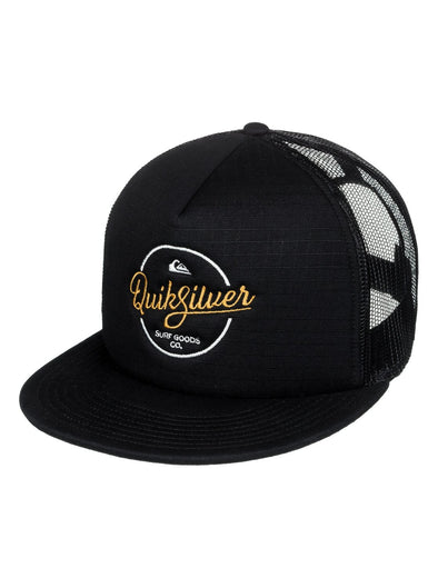 "QUIKSILVER ""TURNSTYLES"" MENS TRUCKER CAP. BLACK (KVJ0) from peaknation.co.uk"