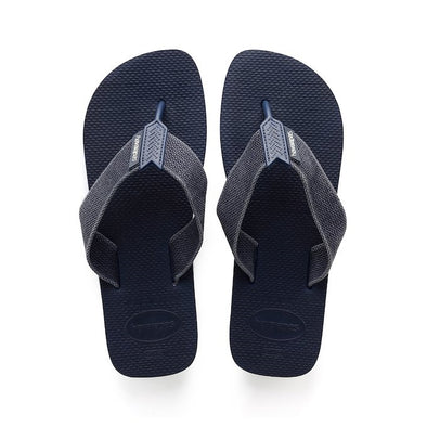 HAVAIANAS URBAN BASIC MENS FLIP FLOPS. NAVY BLUE/INDIGO BLUE from peaknation.co.uk
