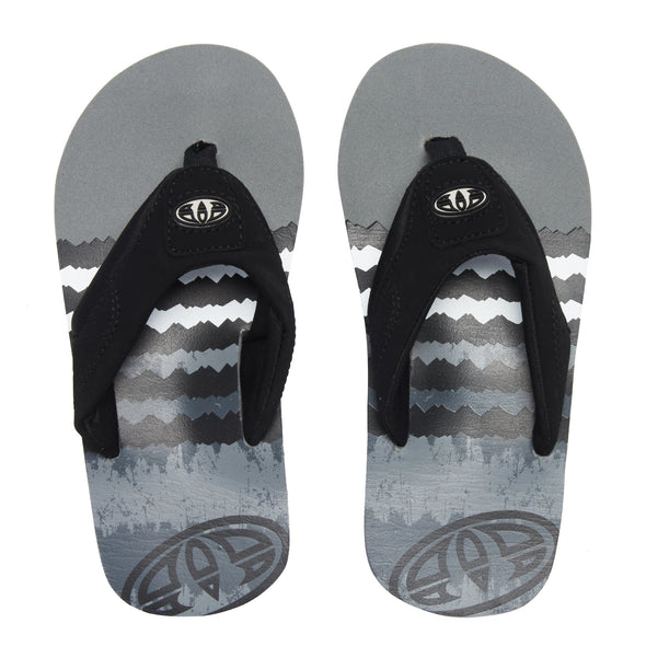 ANIMAL JEKYL LOGO BOYS FLIP FLOPS. BLACK from peaknation.co.uk