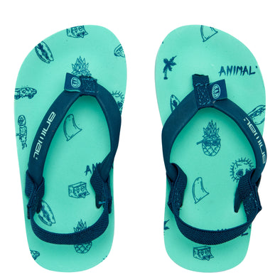 ANIMAL GOOFEY BOYS SANDALS. MARINE GREEN from peaknation.co.uk