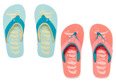 ANIMAL SWISH LOGO GIRLS FLIP FLOPS from peaknation.co.uk