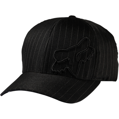 "FOX HEAD ""FLEX 45 FLEXFIT"" MENS CAP. BLACK PINSTRIPE from peaknation.co.uk"