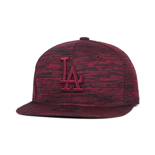 NEW ERA 9FIFTY SNAPBACK CAP. ENGINEERED FIT. LA DODGERS. MAROON from peaknation.co.uk