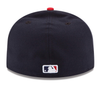 NEW ERA 59FIFTY FITTED CAP. AUTHENTIC MLB ON FIELD CAP. CLEVELAND INDIANS