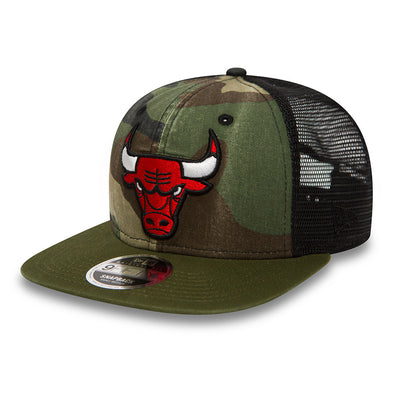 NEW ERA 9FIFTY SNAPBACK CAP. WASHED CAMO CHICAGO BULLS from peaknation.co.uk