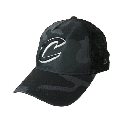 NEW ERA ADJUSTABLE TRUCKER CAP. WASHED CAMO TRUCKER. CLEVELAND CAVALIERS from peaknation.co.uk