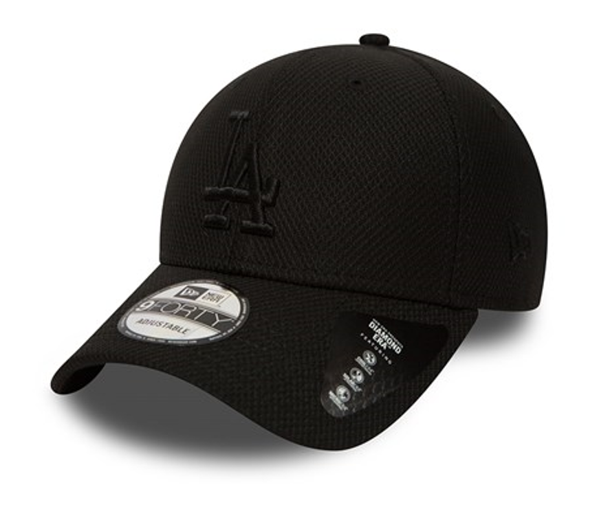 01ad4e3dd2b NEW ERA 9FORTY STRAPBACK CAP. DIAMOND ERA LA DODGERS. BLACK BLACK – Peak  Nation