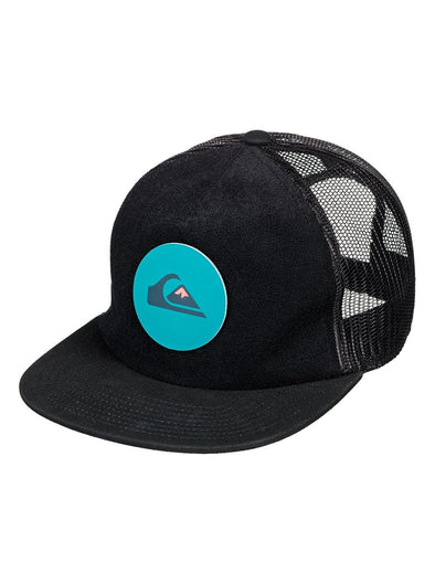 "QUIKSILVER ""SWAGGLES"" TRUCKER CAP. BLACK (kvj0) from peaknation.co.uk"
