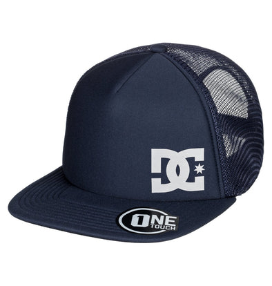 "DC ""GREETERS"" TRUCKER HAT. BLACK IRIS (btl0) from peaknation.co.uk"