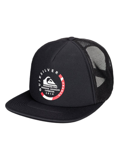 "QUIKSILVER ""PRO FRANCE"" TRUCKER CAP. BLACK (KVJ0) from peaknation.co.uk"