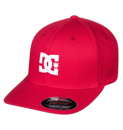 "DC ""CAP STAR 2"" MENS FLEXFIT CAP. TANGO RED (rrh0) from peaknation.co.uk"