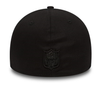 NEW ERA 39THIRTY FITTED CAP. BLACK ON BLACK NEW ENGLAND PATRIOTS from peaknation.co.uk