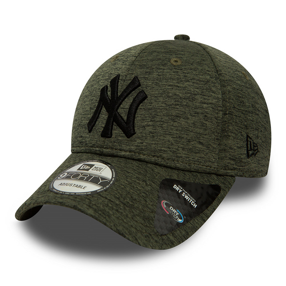NEW ERA 9FORTY ADJUSTABLE CAP. DRY SWITCH JERSEY. NEW YORK YANKEES. OLIVE from peaknation.co.uk