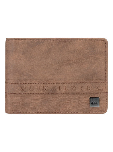 "QUIKSILVER ""EVERYDAY STRIPE"" MENS BI-FOLD WALLET. BROWN from peaknation.co.uk"