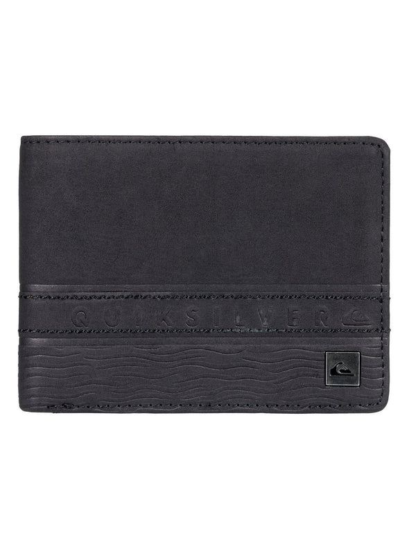 "QUIKSILVER ""EVERYDAY STRIPE"" MENS BI-FOLD WALLET. BLACK from peaknation.co.uk"