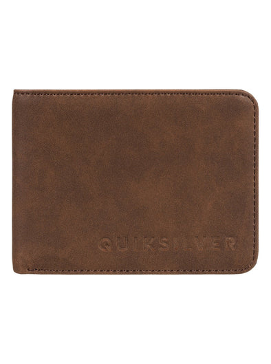 "QUIKSILVER ""SLIM VINTAGE"" BI FOLD WALLET. COFFEE LIQUEUR (cqv0) from peaknation.co.uk"