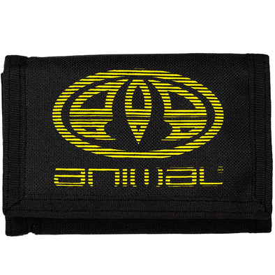 "ANIMAL ""VEXED"" 3 LEAF WALLET. BLACK from peaknation.co.uk"