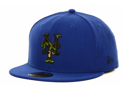 NEW ERA 59FIFTY FITTED CAP. CAMO FILL NEW YORK METS. 7 1/4 (57.7cm)