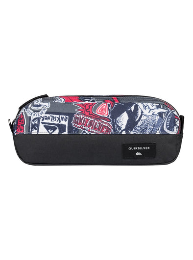 "QUIKSILVER ""TASMEN"" PENCIL CASE/WASHBAG. IRON GATE (kzm0) from peaknation.co.uk"