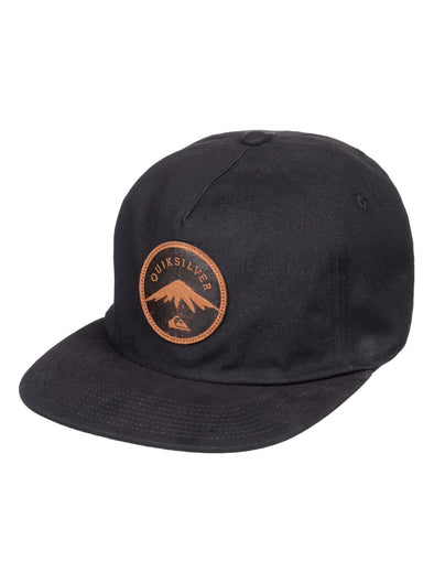 "QUIKSILVER ""MOUNTAIN STASHER"" SNAPBACK CAP. VINTAGE BLACK (ktf0) from peaknation.co.uk"