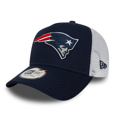 NEW ERA TEAM ESSENTIAL TRUCKER CAP. NEW ENGLAND PATRIOTS. NAVY from peaknation.co.uk