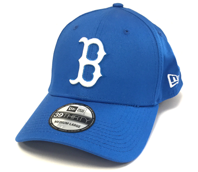 NEW ERA 39THIRTY FITTED CAP. LEAGUE BASIC BOSTON RED SOX. SKY BLUE. M/L from peaknation.co.uk
