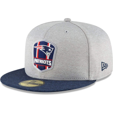 NEW ERA 59FIFTY FITTED CAP. ON FIELD SIDELINE NEW ENGLAND PATRIOTS - AWAY 8eb3f5f84f96