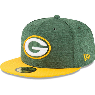 NEW ERA 59FIFTY FITTED CAP. ON FIELD SIDELINE GREEN BAY PACKERS from peaknation.co.uk