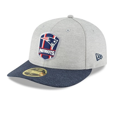NEW ERA LP 59FIFTY FITTED CAP. ON FIELD SIDELINE NEW ENGLAND PATRIOTS - AWAY. RRP £32