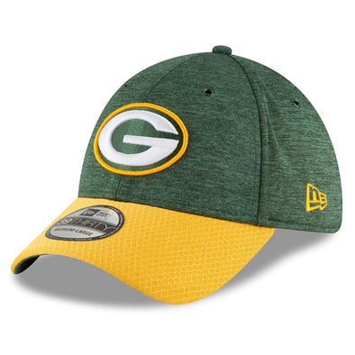 NEW ERA 39THIRTY FITTED CAP. ON FIELD SIDELINE GREEN BAY PACKERS from peaknation.co.uk