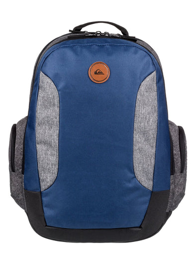 "QUIKSILVER ""SCHOOLIE"" 30L BACKPACK. MEDIEVAL BLUE HEATHER (bteh) from peaknation.co.uk"