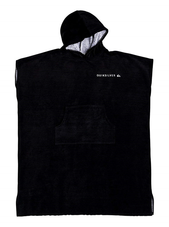 "QUIKSILVER ""HOODY"" HOODED TOWEL. BLACK from peaknation.co.uk"