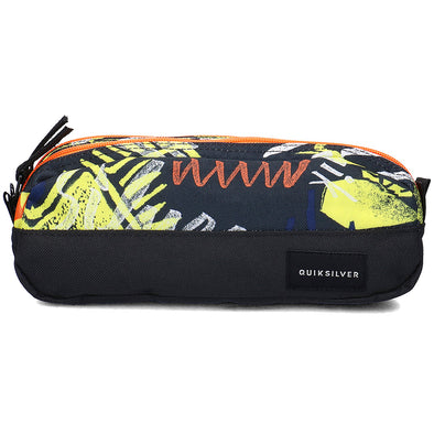 "QUIKSILVER ""TASMEN"" PENCIL CASE/WASHBAG. BLACK THUNDERBOLTS from peaknation.co.uk"