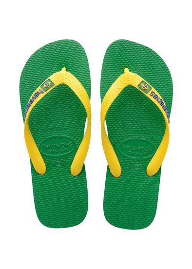 HAVAIANAS BRASIL LOGO. MENS FLIP FLOPS. GREEN from peaknation.co.uk