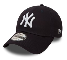 NEW ERA - 9Forty Adjustable Cap. NEW YORK YANKEES. Black/White. OSFA.