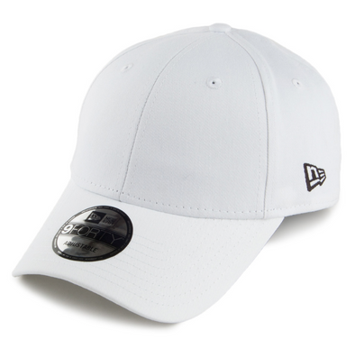 NEW ERA FLAG 9FORTY. BASIC ADJUSTABLE STRAP BACK CAP. WHITE. From PeakNation.co.uk