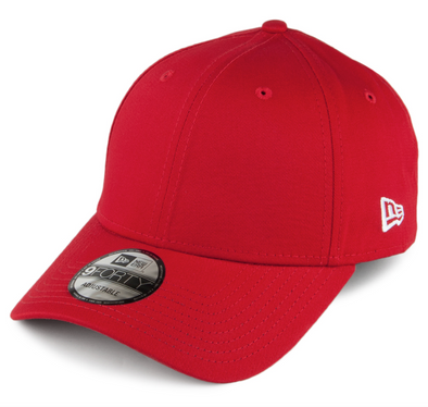 NEW ERA FLAG 9FORTY. BASIC ADJUSTABLE STRAP BACK CAP. SCARLET. From PeakNation.co.uk