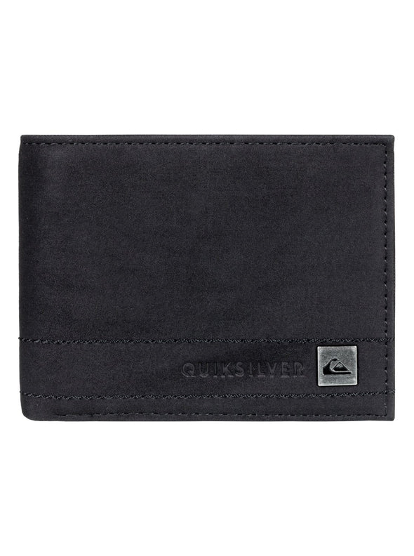 QUIKSILVER STITCHY WALLET. MENS BI-FOLD WALLET. BLACK from peaknation.co.uk