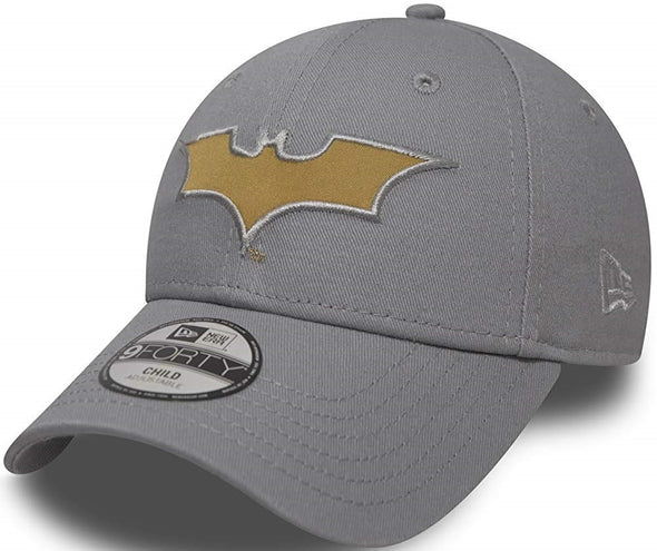 NEW ERA KIDS CHARACTER 9FORTY. BATMAN. GREY/GOLD from peaknation.co.uk