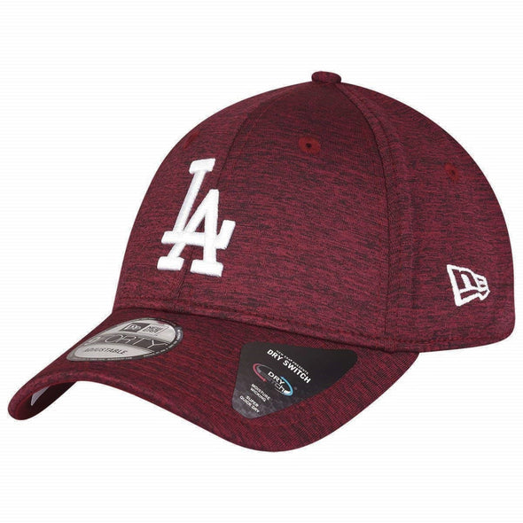 NEW ERA DRY SWITCH 9FORTY CAP. LOS ANGELES DODGERS. CARDINAL RED from peaknation.co.uk