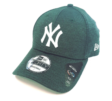 NEW ERA DRY SWITCH 9FORTY CAP. NEW YORK YANKEES. DARK GREEN from peaknation.co.uk