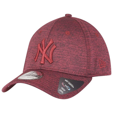 NEW ERA DRY SWITCH 39THIRTY CAP. NEW YORK YANKEES. CARDINAL RED from peaknation.co.uk