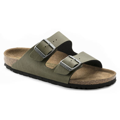 BIRKENSTOCK - WOMENS ARIZONA. REGULAR FIT. PULL UP OLIVE from peaknation.co.uk