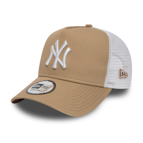 NEW ERA - NEW YORK YANKEES ESSENTIAL CAMEL A FRAME TRUCKER HAT from PeakNation.co.uk